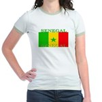 Senegal Senegalese Flag Jr. Ringer T-Shirt