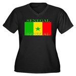 Senegal Senegalese Flag Women's Plus Size V-Neck D