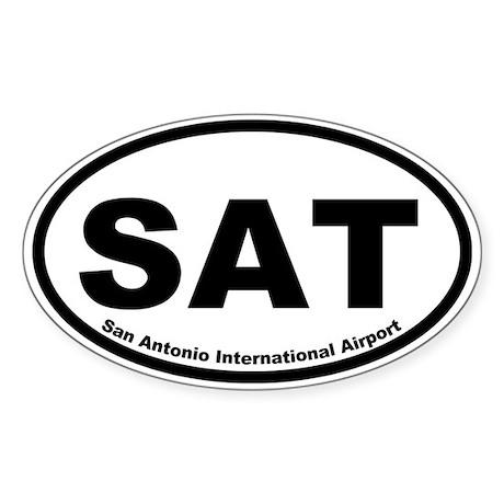 San Antonio International Airport Oval Sticker