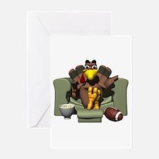 Couch Potato Football Turkey Greeting Card