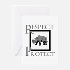 Protect Rhinos Greeting Cards