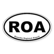 Roanoke Regional Airport Oval Decal