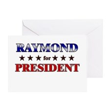RAYMOND for president Greeting Card