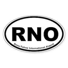 Reno-Tahoe International Airport Oval Decal