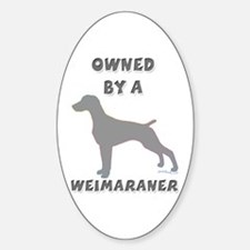 Weimaraner Pewter Oval Decal