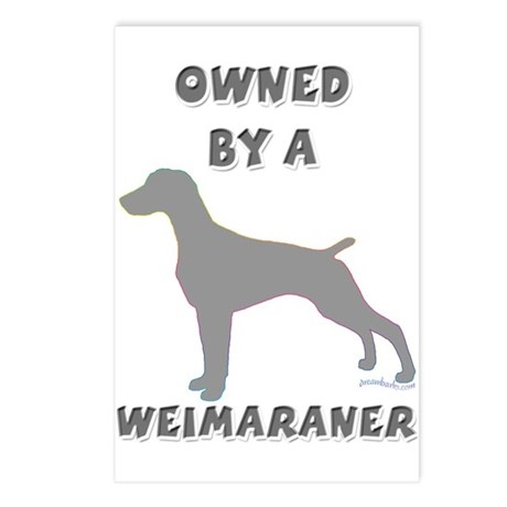 Weimaraner Pewter Postcards (Package of 8)