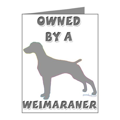 Weimaraner Pewter Note Cards (Pk of 20)