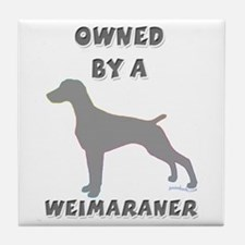 Weimaraner Pewter Tile Coaster