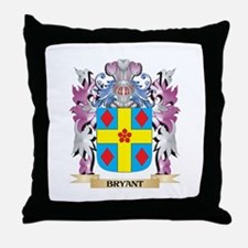 Bryant Coat of Arms (Family Crest) Throw Pillow