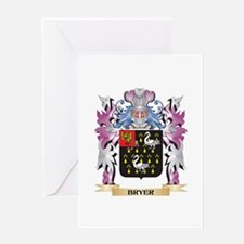 Bryer Coat of Arms (Family Crest) Greeting Cards