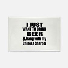 Hang With My Chinese Sh Rectangle Magnet (10 pack)