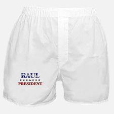RAUL for president Boxer Shorts