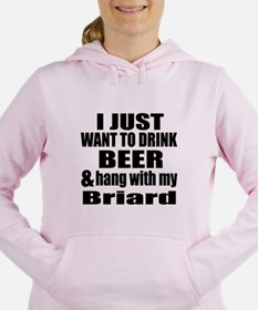 Hang With My Briard Women's Hooded Sweatshirt