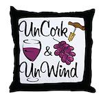 UnCork & UnWind Throw Pillow