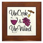 UnCork & UnWind Framed Tile