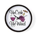 UnCork & UnWind Wall Clock