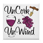 UnCork & UnWind Tile Coaster