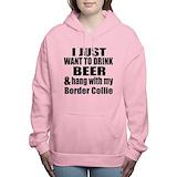 Hangin with my border collie Hooded Sweatshirt