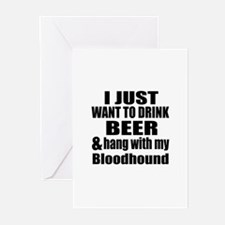 Hang With My Bloodhound Greeting Cards (Pk of 20)