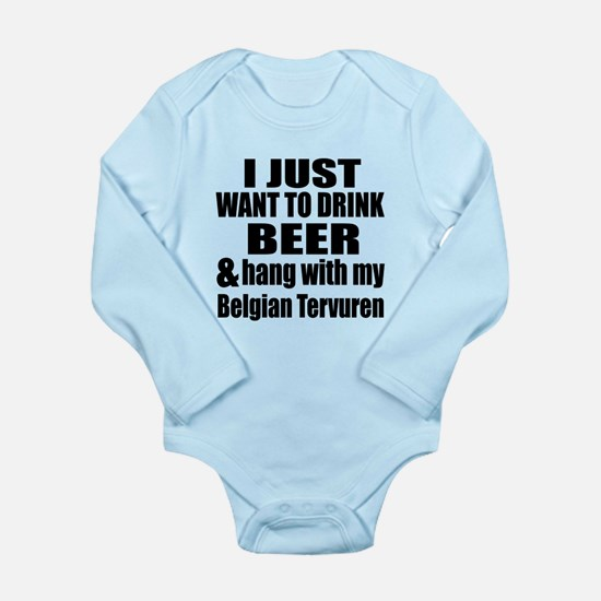 Hang With My Belgian T Long Sleeve Infant Bodysuit