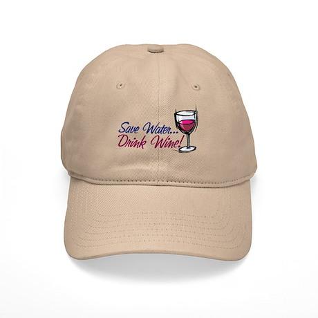 Save Water Drink Wine Cap