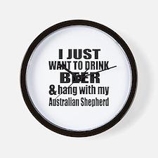 Hang With My Australian Shepherd Wall Clock