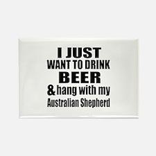 Hang With My Australian Shepherd Rectangle Magnet