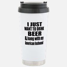 Hang With My American f Stainless Steel Travel Mug