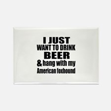 Hang With My American f Rectangle Magnet (10 pack)