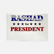 RASHAD for president Rectangle Magnet