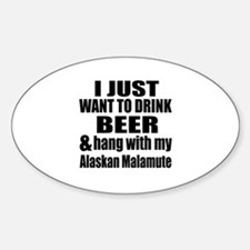 Hang With My Alaskan Malamute Decal