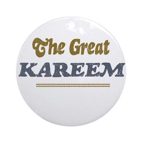 Kareem Ornament (Round)
