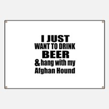 Hang With My Afghan Hound Banner