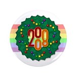 "Rainbow Wreath 3.5"" Button (100 pack)"