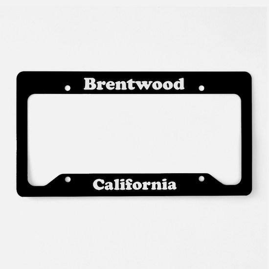 Brentwood CA License Plate Holder