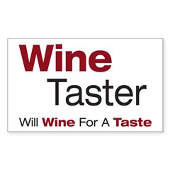 Wine Taster Rectangle Decal