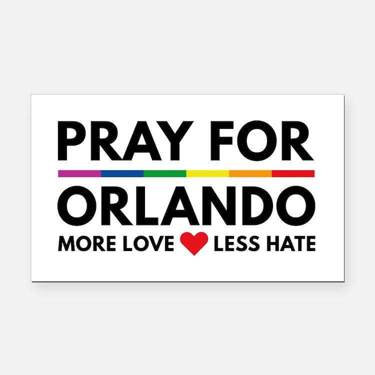 Pray For Orlando Rectangle Car Magnet