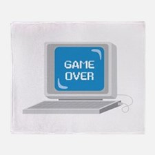 Computer Game Over Throw Blanket