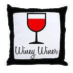 Winey Winer Throw Pillow