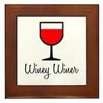 Winey Winer Framed Tile