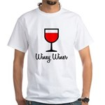 Winey Winer White T-Shirt