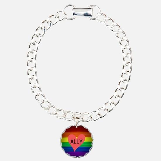 ALLY gay rainbow art Bracelet