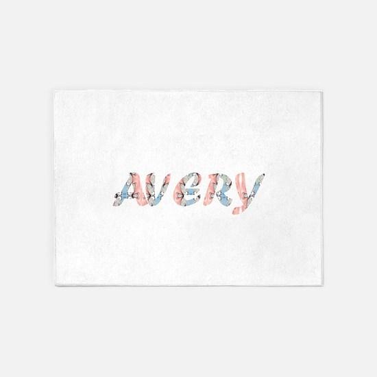 Avery romantic name 5'x7'Area Rug