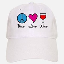 Peace Love Wine Baseball Baseball Cap