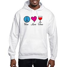 Peace Love Wine Hoodie