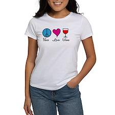 Peace Love Wine Tee