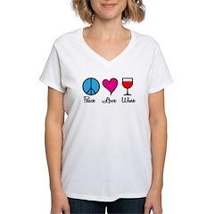 Peace Love Wine Shirt