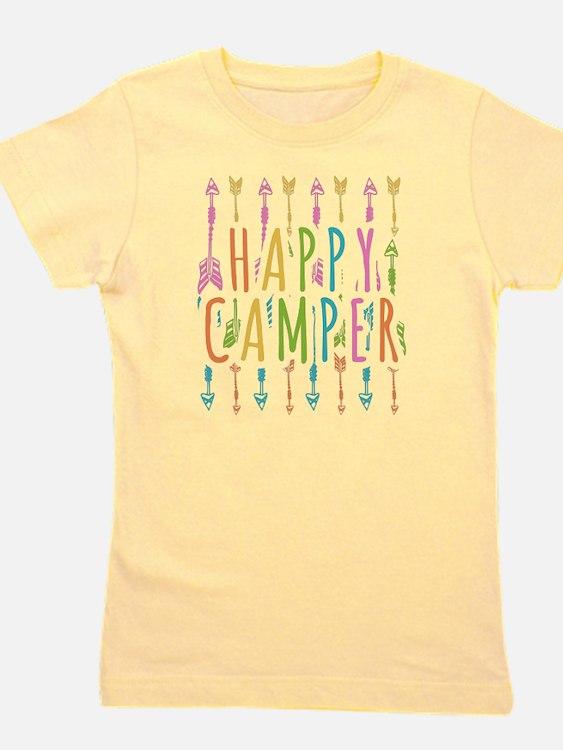 Cute Happy campers Girl's Tee