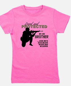Cute Military brother Girl's Tee