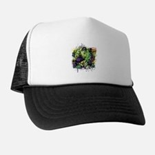 Hulk Watercolor Trucker Hat